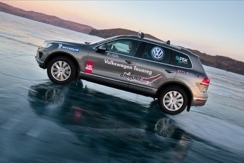 Volkswagen Touareg on Lake Baikal