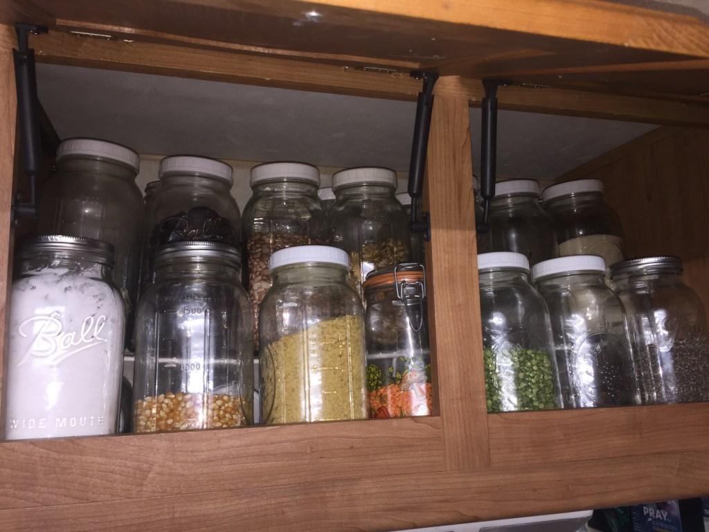 bulk storage jars are homestead kitchen essentials
