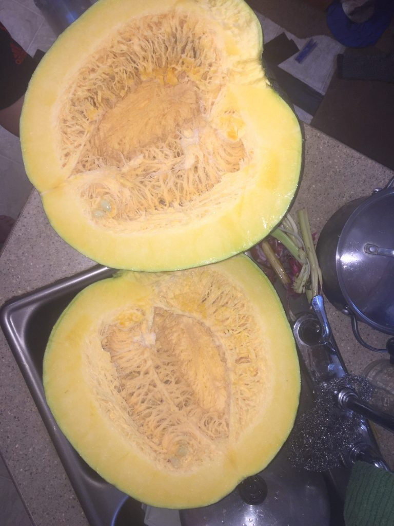 the large squash our friend shared