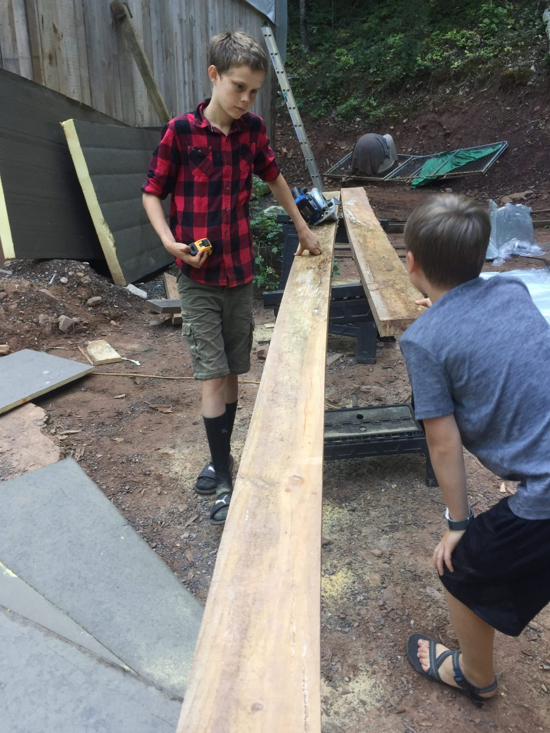 Measuring and cutting lumber