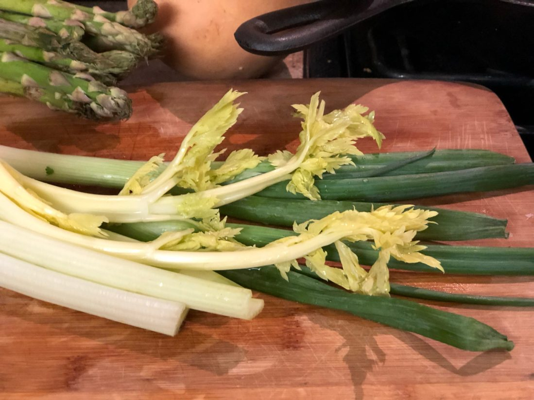 Celery and green onions