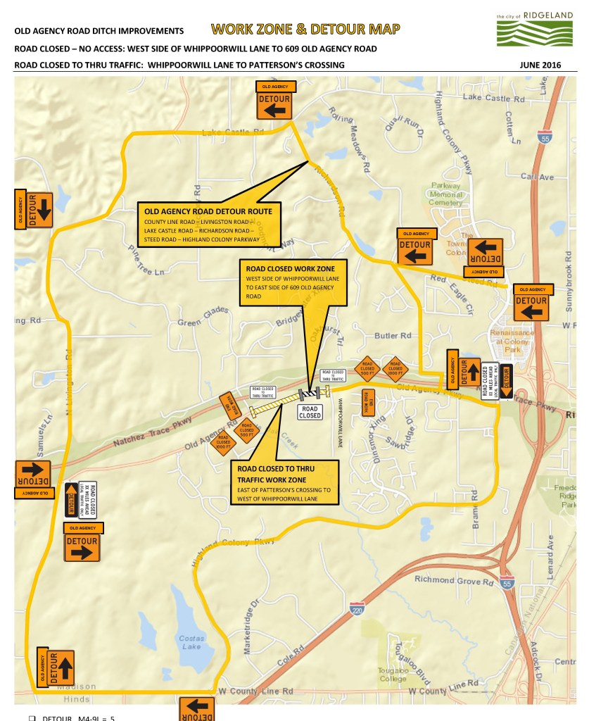 OLD AGENCY ROAD CLOSURE DETOUR MAP-6 14 2016 2