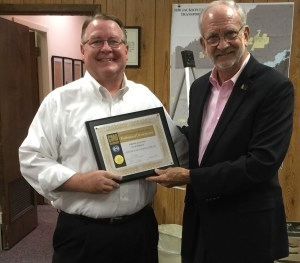 Alderman Scott Jones was recognized at a recent Mayor and Board of Aldermen Meeting for attaining designation as Professional Certified Municipal Official. The Certified Municipal Officials program offered by the Mississippi Municipal League is a voluntary program that utilizes existing opportunities such as conferences and special meetings along with specially crafted courses to provide meaningful, informative, and useful information on topics that will expand the elected official's knowledge and capabilities.