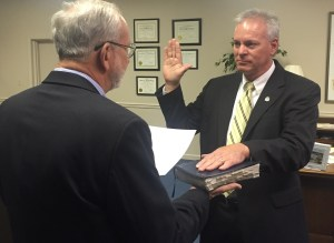 John Neal was sworn in by Mayor Gene McGee on July 1, 2015 as the Ridgeland Police Chief. Neal had most recently served the Ridgeland Police Department as Lieutenant of the Criminal Investigations Division, and he has worked for the Ridgeland Police Department for almost 27 years. Neal was appointed by the Mayor and Board of Aldermen on May 19 to begin his new position after Randy Tyler retires as Police Chief on June 30.