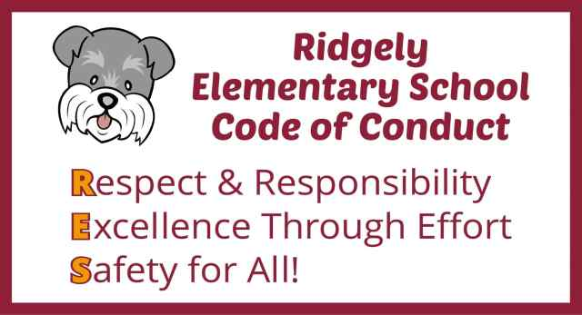 Graphic with Ridgely Terrier listing Code of Conduct