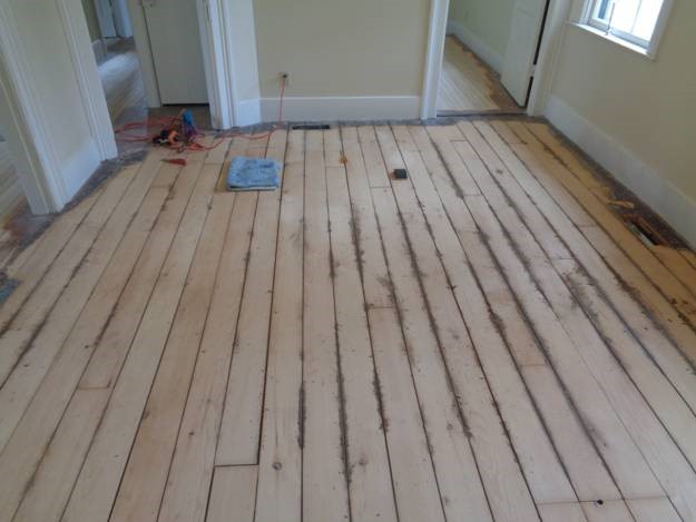 April 24 – dirt that came out of the parlor floorboard gaps