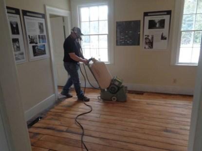 March 31 – Taylor sanding floor in parlor