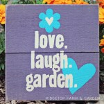 Garden Signs from Recycled Pallets
