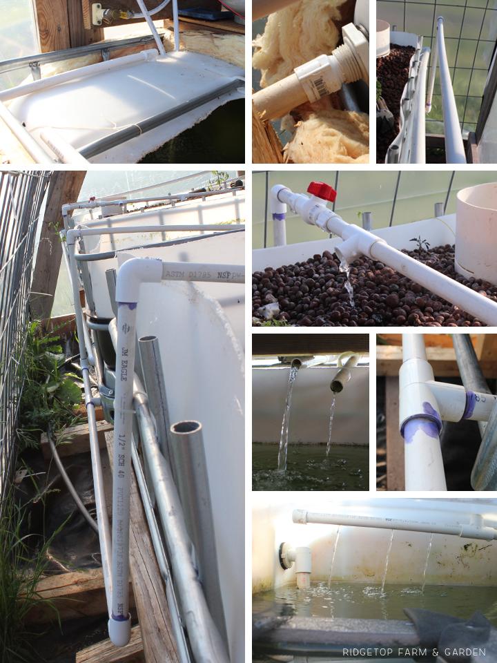 Ridgetop Farm & Garden | Aquaponics Update May 2014 | Plumbing