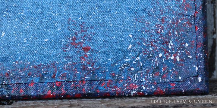 Freedom Canvas splatter