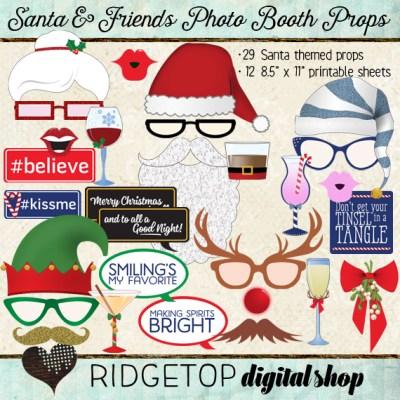 Ridgetop Farm and Garden | Santa and Friends Photo Booth Props