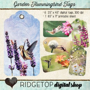 Ridgetop Digital Shop | Tags | Garden Hummingbird