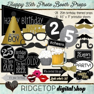 Ridgetop Digital Shop | Photo Booth Props | 25th Birthday