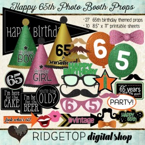 Ridgetop Digital Shop | Photo Booth Props | 65th Birthday