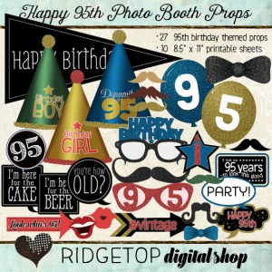 Ridgetop Digital Shop | Photo Booth Props | 95th Birthday