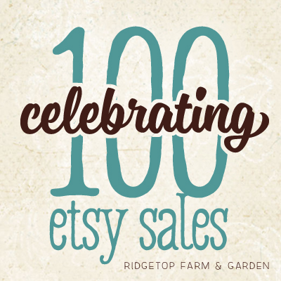 Celebrating 100 Etsy Sales