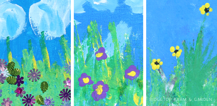Ridgetop Farm and Garden   Butterfly Canvas Painting   Kids Art   How to