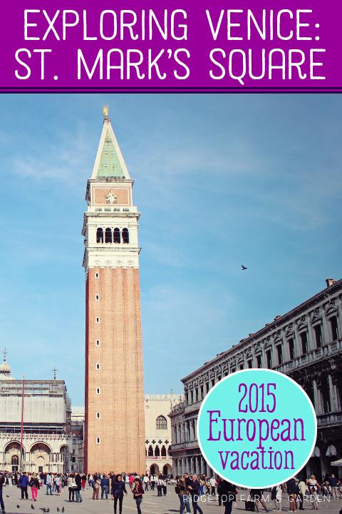 Ridgetop Farm and Garden | Travel | St. Mark's Square | Venice | Italy | Europe
