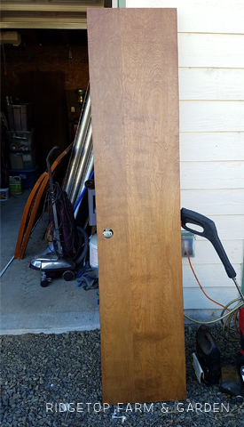 Ridgetop Farm and Garden   Project Upcycle   Closet Door Turned Hall Table