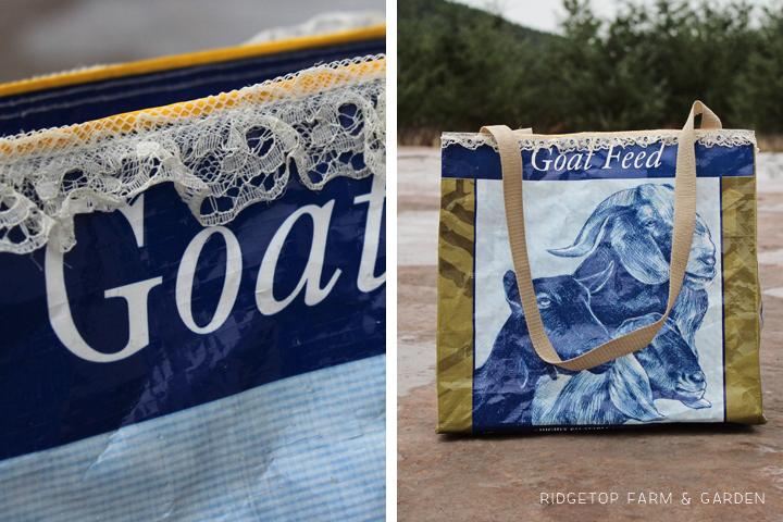 Ridgetop Farm and Garden | DIY| Upcycle | Tote Bag to Feed Sacks