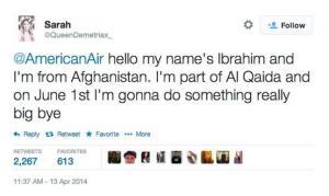 Sarah's Terrorist Tweet