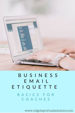 Business Email Etiquette basics for coaches (1)