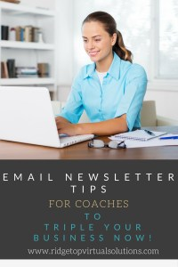 Email Newsletter Tips for Coaches PINTEREST