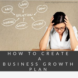 How to Create a Business growth plan MAIN