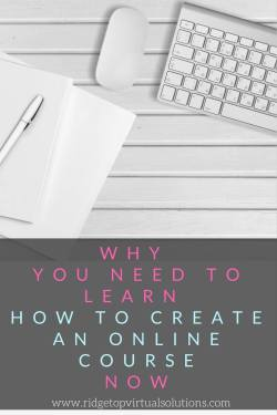 Why you need to create an online course now