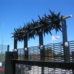 Fence topping spikes