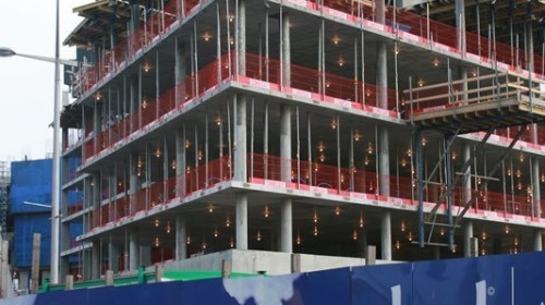 Combisafe Edge Protection Installed during construction of Belfast's tallest building, the Obel Tower