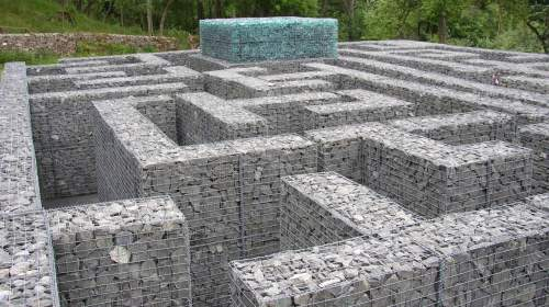 Gabions can be used to create a maze
