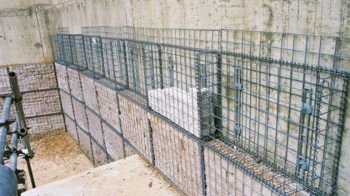 Outer wall cladding (mid-construction)