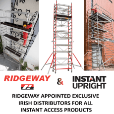 Ridgeway Appointed Exclusive Irish Distributors for all Instant Access Products