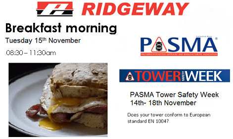 Ridgeway Breakfast Morning to Celebrate Tower Safety Week