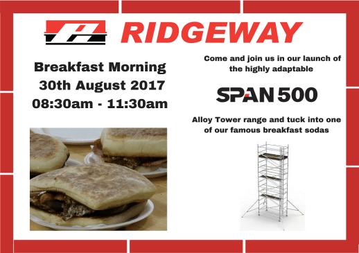 Ridgeway Breakfast Morning 30th August 2017