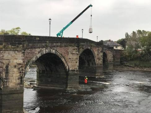Filter Units successfully installed on bridge piers