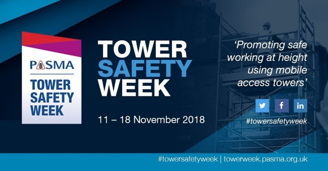 Join Ridgeway in supporting PASMA Tower Safety Week