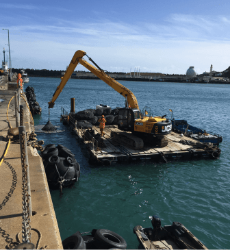 Isle of Man – Victoria Pier Scour protection works