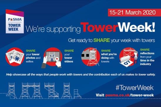 Join Ridgeway in supporting PASMA Tower Week 2020