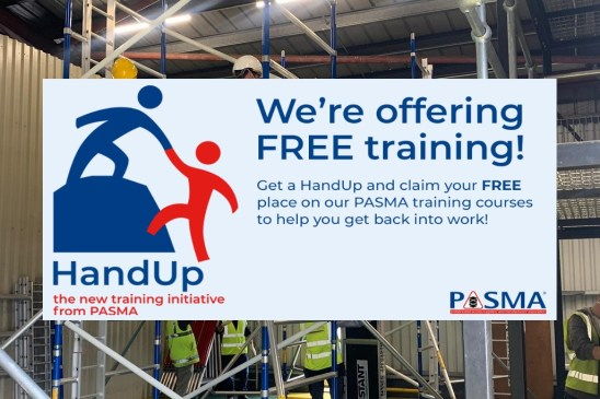 Free PASMA Course at Ridgeway with PASMA HandUP Initiative
