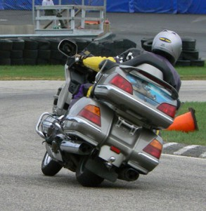 Getting a big (or small) motorcycle to turn requires more than just body weight.