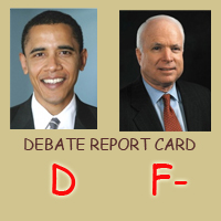 Presidential Debate report card