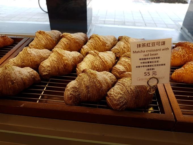 抹茶紅豆可頌 Matcha croissant with red bean(抹茶あずきクロワッサン)55元