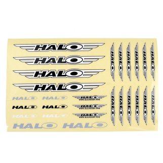 Set adesivi Halo. 27 adesivi per foglio, 22 x 14 cm.