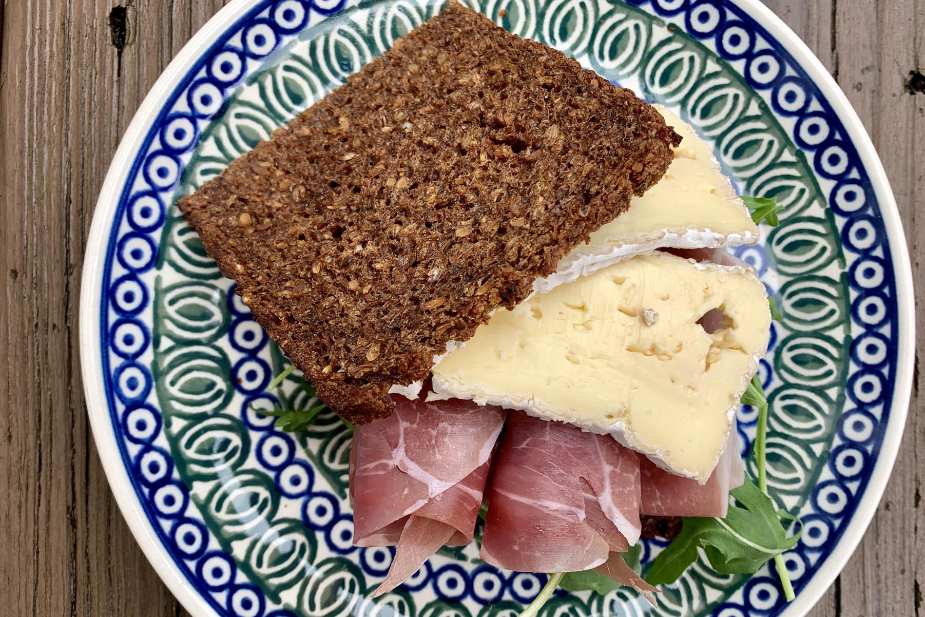Prosciutto, Triple Creme and Truffle Oil Sandwich