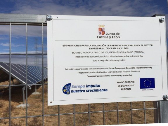 Cartel_1 bombeo solar Villalonso (Zamora)