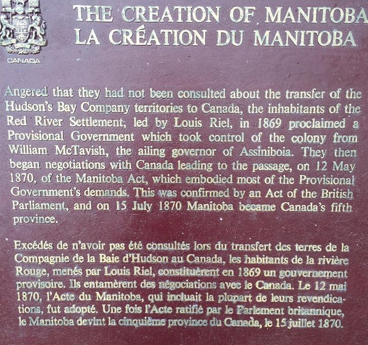 Lots of important history at The Forks in Winnipeg.