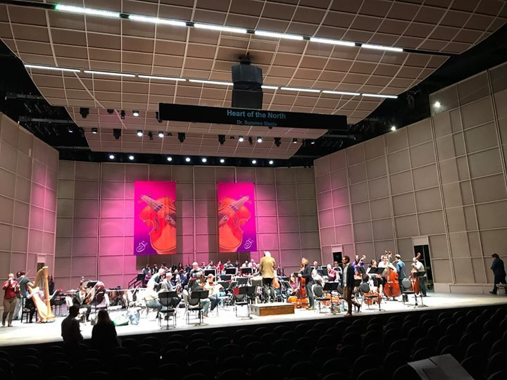 Riel's Heart of the North world premiere is tonight! This has been an unforgettable experience, many thanks to the amazing players of the Regina Symphony and their fearless and highly professional conductor Gordon Gerrard. The piece sounded so good right away, Maestro Gerrard was able to do some finely detailed work with his highly skilled players. Having the best singers in the land  doesn't hurt either! (I will tag them in the comments.) Break a leg and merde, everyone!! Now – out for dinner…