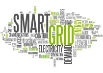 word cloud black and lime green text smart grids and electricity networks
